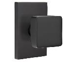Emtek  C5112-SQU  Square Knob with Modern Rectangular Rosette Supplied with a 28 Degree Rotation Lat