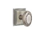 Emtek  C8161-BE  Beaded Egg Knob with Wilshire Rosette Supplied with a 28 Degree Rotation Latch and