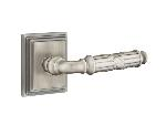 Emtek  C8161-RBL  Ribbon & Reed Lever with Wilshire Rosette Supplied with a 28 Degree Rotation Latch